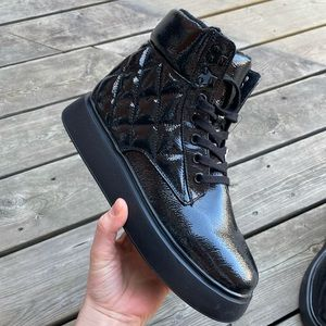 H&M NWT Patent Leather Black Boots